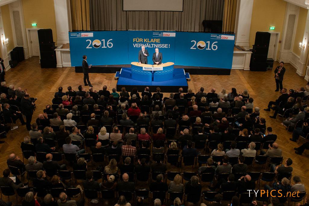 Wahlkampfveranstaltung mit Reiner Haseloff und Hort Seehofer Landtagswahl 2016