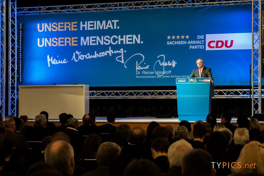 Wahlkampfauftakt mit Angela Merkel zur Landtagswahl 2016