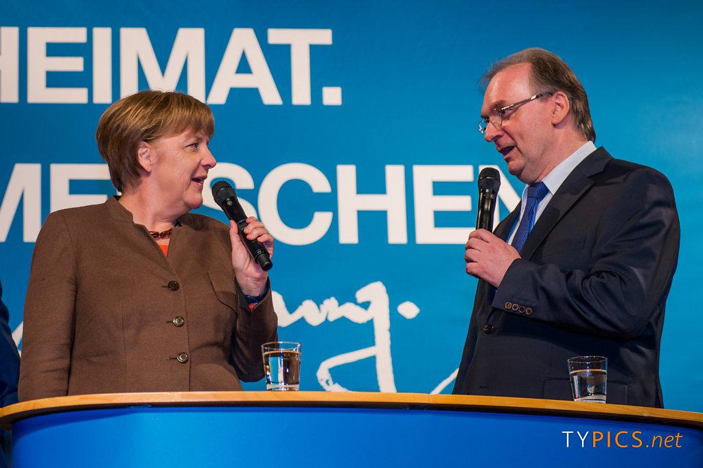 Wahlkampfabschluss mit Angela Merkel zur Landtagswahl 2016